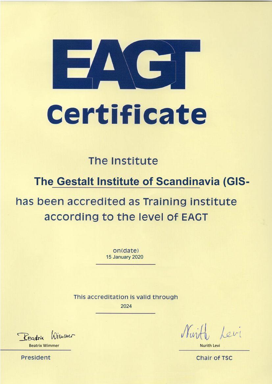 GIS EAGT certificate